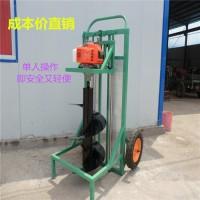 升级版手推式挖坑机  工厂立柱挖坑机  呈昊机械