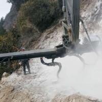 2018工程矿山先进设备、挖改钻机改装凿岩机、多功能凿岩打边坡锚杆钻机--重庆亿山机械 挖机钻