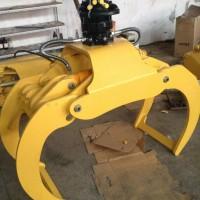 济宁邦力ZMQ14抓木器,6-13吨挖机适用 抱木夹 夹木叉 抓木器 进口马达 转动灵活,载荷2.5吨 你的赚钱机械