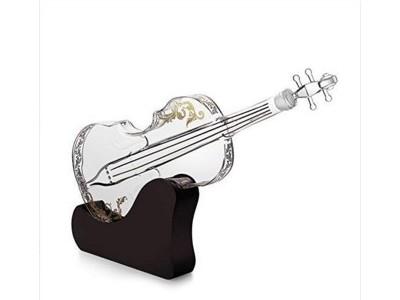 小提琴造型玻璃酒瓶创意白酒瓶吉他造型工艺酒瓶吹制白酒瓶