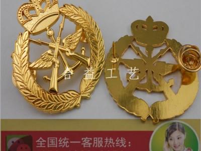 锌合金镂空胸章、皇冠徽章、公司徽章、电镀襟章