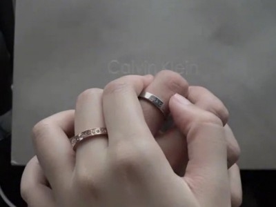 CALVIN  KLEIN简约风玫瑰金色戒指
