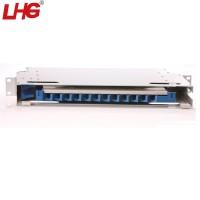 机架式12芯ODF光纤配线架 含熔纤盘多种接口光纤接续单元箱