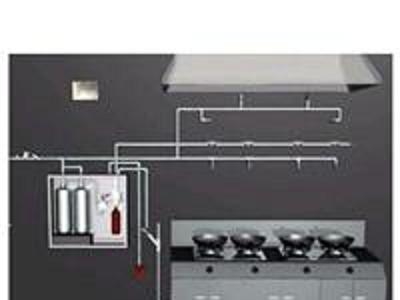 陕西厨房灭火,西安酒店餐厅厨房灭火装置布线安装施工,良瑞和泰