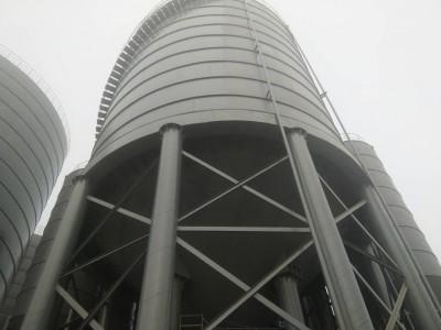 滁州生产大型粉煤灰钢板仓  螺旋卷板仓  镀锌钢板仓  渣仓