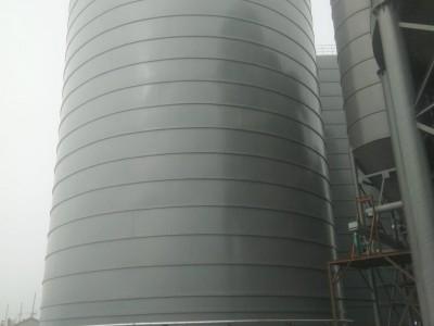江西生产大型粉煤灰钢板仓 落地式焊接钢板仓 螺旋卷板仓