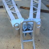 金属框架人字抱杆框架式铝合金抱杆立杆组塔专用型网格式立杆机