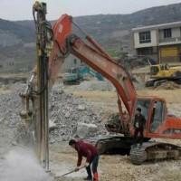 挖机改装凿岩潜孔钻机 挖改凿岩挖改潜孔 岩石钻孔机