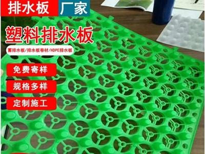 青岛种植屋面蓄排水板塑料车库疏水板规格