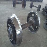 现货直供实心矿车轮对 铸钢铸铁实心矿车轮对 矿车轮