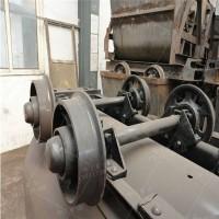 轴粗50mm矿车轮对 轨距600的1.5吨矿车轮对 铸铁材质