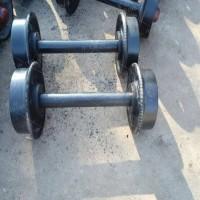 350空心加厚轮对 平板车用轮对 轴粗60实心矿车轮对